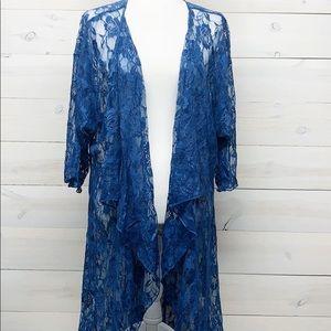 Lularoe Lace Blue Shirley